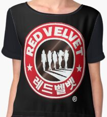 Red Velvet Coffee Chiffon Top