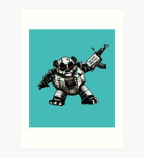 Pandapoppolis - The Robot Panda Art Print