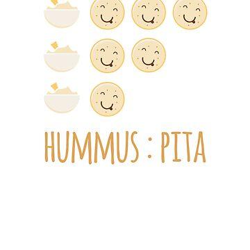 Hummus To Pita Ratio - Funny Vegan Foodie by RaveRebel