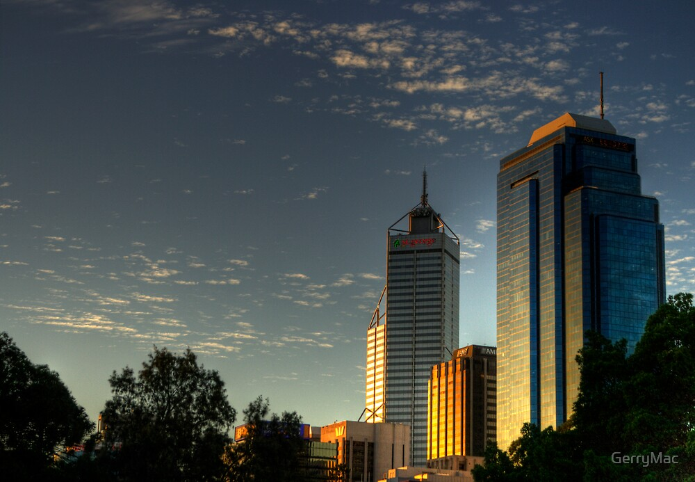 Riverside Drive Perth Skyline by GerryMac