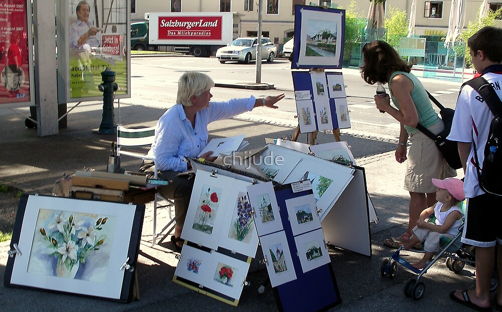 Sidewalk Art Innsbruck - On Tour Europe by chijude