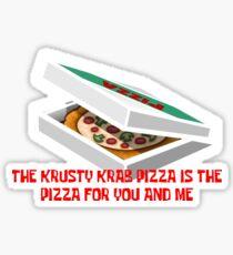 Krusty Krab Pizza Sticker