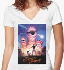 THE DEADLY SPAWN Women's Fitted V-Neck T-Shirt