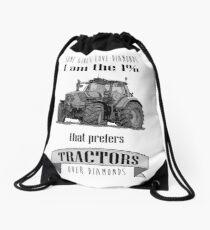 The 1% that loves tractors Drawstring Bag