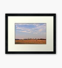 In the prairies Framed Print