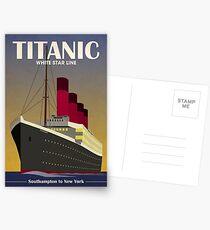 Titanic Ocean Liner Art Deco Print Postkarten