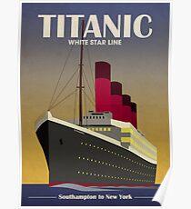 Titanic Ocean Liner Art Deco Print Poster