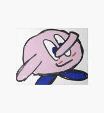 Pink Jiggle Man Art Board