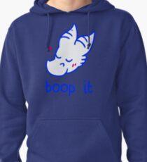 boop it (blue) Pullover Hoodie