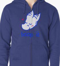 boop it (blue) Zipped Hoodie