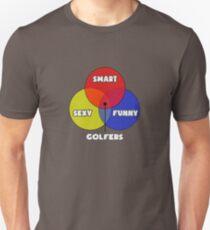 01eb1c3b Venn Diagram - Golfer Humor Slim Fit T-Shirt