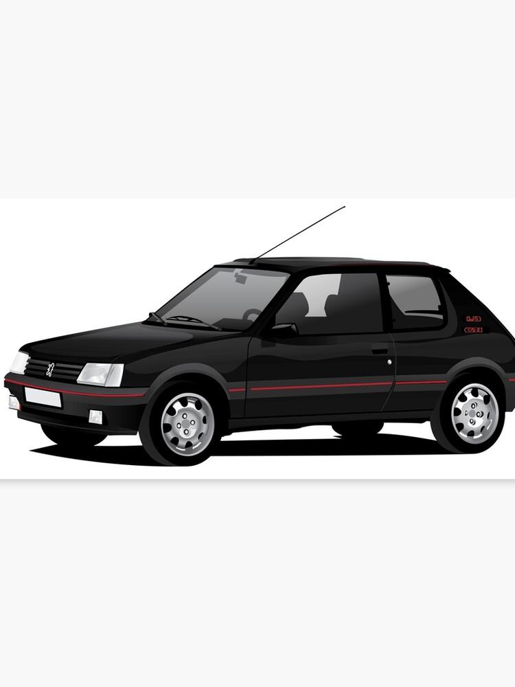 Vloermat 205 Gti.Peugeot 205 Gti Black Canvas Print