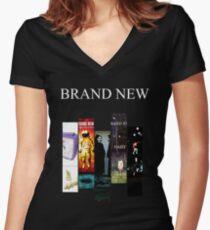 Brand New Women's Fitted V-Neck T-Shirt
