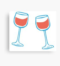 Glas of wine Canvas Print