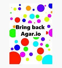 Make Agar.io cool again Photographic Print