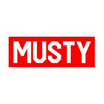 Musty - Shoreline Mafia - Red Box Logo - BOGO by Wavelordsunited