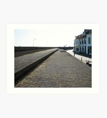 Wall protecting against the river Art Print