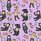 Detectives Pouch (purple) by geothebio