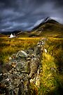 Camasunary Cottage and The Blaven ,Isle of Skye, Scotland. by PhotosEcosse