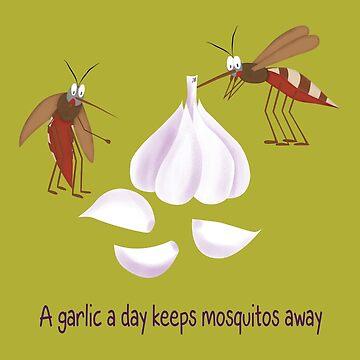 A garlic a day keeps mosquitos away by yanatibear