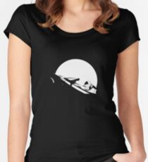 Starman In Space Tesla Roadster Women's Fitted Scoop T-Shirt