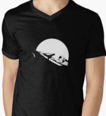 Starman In Space Tesla Roadster Men's V-Neck T-Shirt
