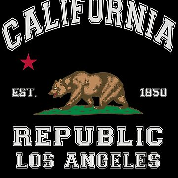 Republic Of California State Flag Los Angeles by ThreadsNouveau