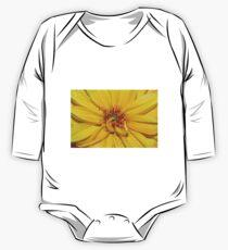 Yellow flower One Piece - Long Sleeve