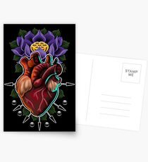 505294f7e Sacred Heart & Lotus Postcards