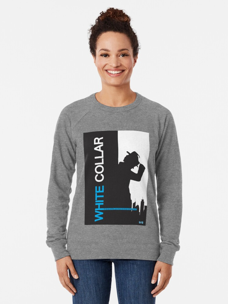 Alternate view of White Collar Lightweight Sweatshirt