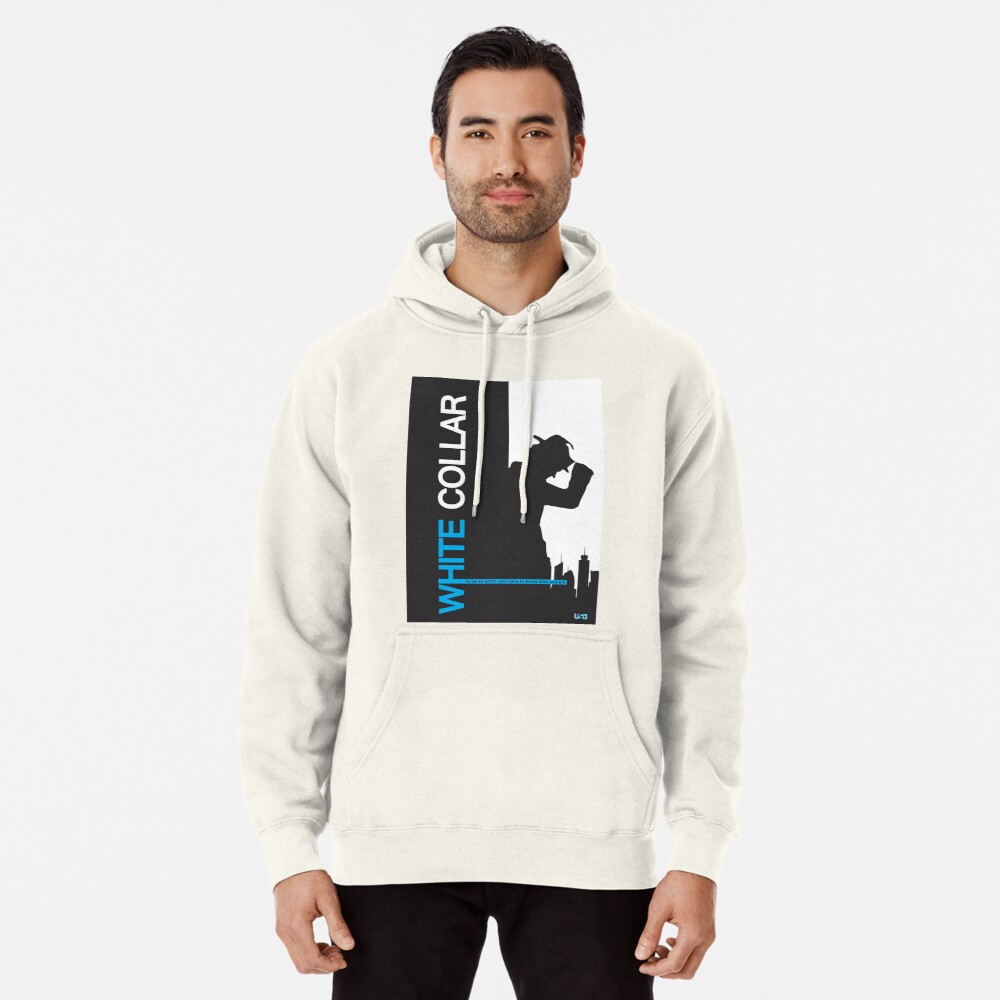 White Collar Pullover Hoodie
