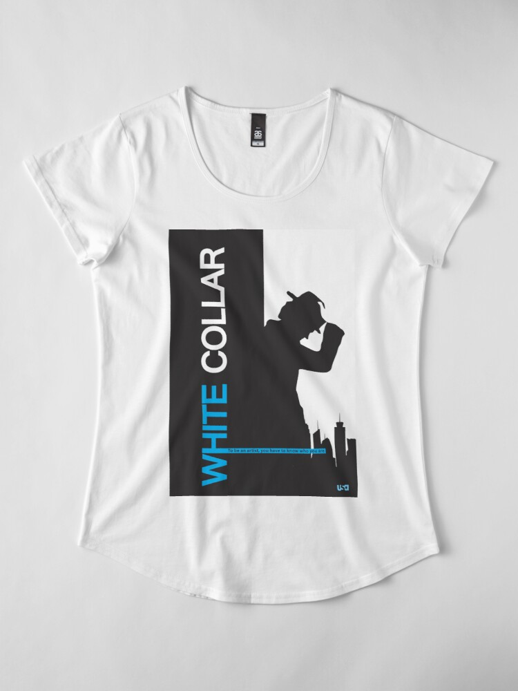 Alternate view of White Collar Premium Scoop T-Shirt