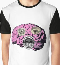 Vintage Brain Graphic T-Shirt