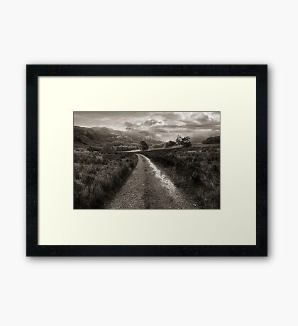 The Long Way Down Framed Print