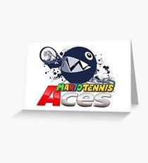 Mario Tennis Aces - Chain Chomp Greeting Card