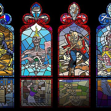 Classic Metal- Eddie- Stained Glass Windows by Biff85