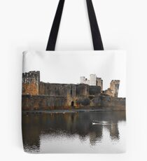 Caerphilly Castle, Caerphilly, April 2009  Tote Bag