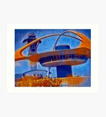 """LAX Control Tower""  Art Print"