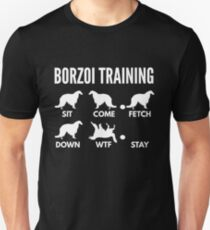 Borzoi Training Russian Wolfhound Tricks Unisex T-Shirt