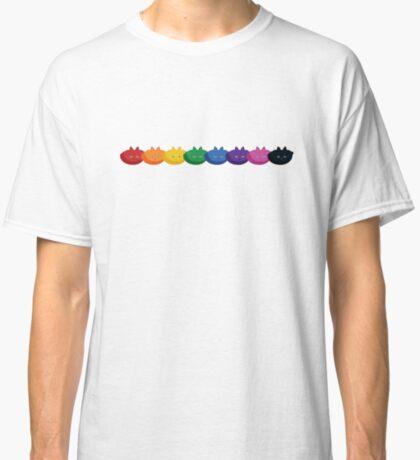 Rainbow Diagonal Jumbo Stripe Cattern [Cat Pattern] Classic T-Shirt