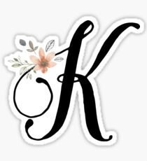 Monogram K Sticker