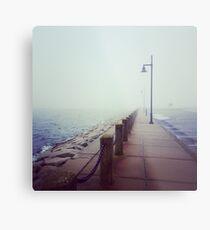 A Foggy Pier Metal Print