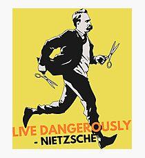 Live Dangerously - Nietzsche Photographic Print