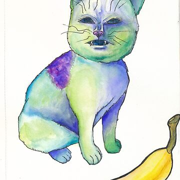 Cat no like Banana by Lxsketch