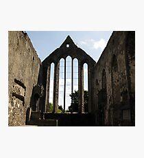 Ennis Friary window Photographic Print