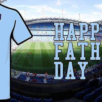 Football Father's Day Mug, Manchester, City, Soccer, Etihad Stadium, Dad, Daddy, Personal Mug by prezziefactory