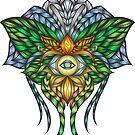 Visionary Art - Luna Moth by Anastasia Helten