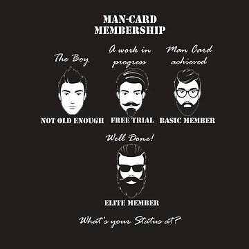 Man-Card Membership Status, Proof of Manhood by TeodoraWorkshop