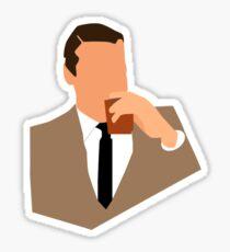 Don Draper Takes a Drink Sticker