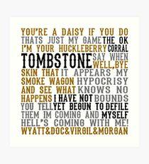 Tombstone Filmzitate Kunstdruck